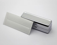 Wholesale Lipstick Case Holders - Lipstick Holder with Mirror Blank Metal lipstick case Personalized Lipstick Organizer +epoxy sticker DIY set FREE SHIPPING