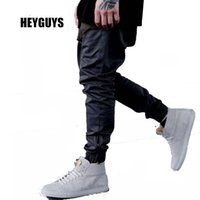 Wholesale Casual Baggy Trousers Men - Wholesale-HEYGUYS 2016 fashon Fitness Long Pants Men Casual Sweatpants Baggy Jogger Trousers Fashion Fitted Bottoms streetwear hiphop