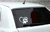 New Heart Paw Vinyl Decal sticker glance love footprints carro adesivos camaleão vinil carro envoltório venda quente fibra de carbono