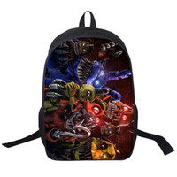 Wholesale Five Nights Freddys Backpack For Teen Bonnie Fazbear Foxy Freddy Chica Backpack Boys Girls School Bags Kids Bags Daily Backpacks