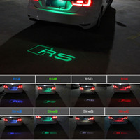 Wholesale Audi A3 Fog Light - Audi led Anti-tail light Rain fog welcome rear laser lights for A3 A4 A5A A6 A7 S5 S6 S7 Q3 Q5 TTS Decoration