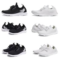 2017 New Fashion Cool Chaussures de course Light air Mesh Outdoor Sports Noir Blanc Jogging Sneakers Femme hommes Flat Walking Trend Shoes 36-46