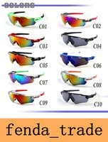 Wholesale Wholesale Fashion For Women - Cylcing Fishing Sunglasses 10 colors 9208 New Fashion Design RADAR EV For Men or Women sport eyewear oculos de sol UV400 AAA+ quality MOQ=10