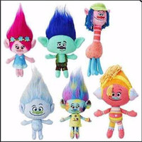 Atacado- 23-30CM New Plush Brinquedos A Boa Sorte Trolls Dream Magia Fairy Hair Assistente Blanche Bobbi Magic duende Stuffed Cartoon Doll Kids