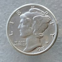 Wholesale Europe Retail - 90% Silver Mercury Head Dimes 1916 -D Dates Nice Quality Coins Retail  Whole Sale Free shipping