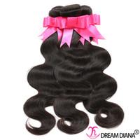 commande le tissage péruvien achat en gros de-Brésilien Extensions de cheveux humains Vierge Cheveux Corps Vague Non Transformés Cheveux Weaves Bundles Couleur Naturelle Peut être Teint Peut Être Permed