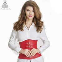 Wholesale Woman S Leather Underwear - Wholesale- Leather waist trainer Slimming Underwear waist trainer corsets hot shapers body shaper women belt Corrective modeling strap