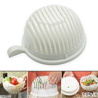 Wholesale Food Choppers Shredders - Salad Cutter Bowl, 60 Second Salad Maker, Food Grade ABS Vegetable Cutter, Salad Chopper  Slicer