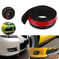 Wholesale 2 M Roll New CM Width Rubber Lip Skirt Protector Car Scratch Resistant Rubber Bumpers Car Front Lip Bumpers Decorate