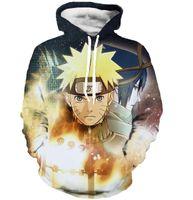 Wholesale naruto sasuke hoodie - Wholesale-Classic Anime Naruto Hooded Sweatshirts Men Women Long Sleeve Outerwear Naruto and Sasuke 3D Hoodies Galaxy Pullovers