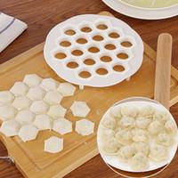 Wholesale Ravioli Mold - Wholesale- Creative fast Pack dumpling machine Home plastic 21cm Dough Press Dumpling Pie Ravioli Mold Mould Maker Cooking Pastry tools
