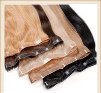 Wholesale 26 Inch Tape Hair Extensions - Skin Weft Tape Hair Extensions Straight Body Wave Ombre Invisible Human Hair Extensions Black Brown 12-26 inch 100g accept customized
