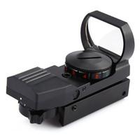 red dot laser sight taktisch großhandel-Rot Grün Dot Spektiv Laser Holographic Reflex Sight Tactical Scope 4 Verschiedene Absehen Leichtgewicht 1 MM + NB