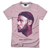 "Wholesale Lebron T Shirts - 2017 Fashion Short Sleeves Men Women t shirt 3D Print LeBron James,""King""basketball, 3D t-shirt, full prin Shirt UK337"