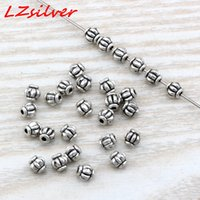 Hot ! 500Pcs Antique silver Alloy lantern Spacer Bead 4mm DIY Jewelry D2