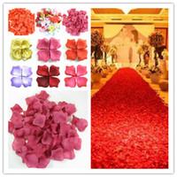 Wholesale Colorful Bridal Shower - Fiancee 1200pcs Colorful Rose Petals Artificial Flower Wedding Party Vase Decor Bridal Shower Favor Centerpieces Confetti