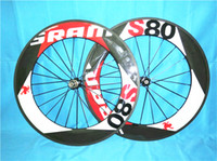 Wholesale Carbon Road Wheels Sram - High quality 700c 88mm Sram S80 carbon road bike wheels with 20.5mm width 6 kinds of hubs free shipping