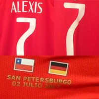 Wholesale 2017 Final Confederations Cup Chile Vs Germany Alexis Vidal Julio Soccer Patch Badge Fabric and Sewing