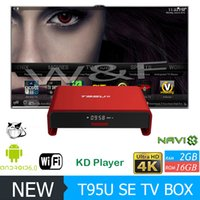 Wholesale Red Hot Hd - 2017 Hot Selling Full Housing Metal T95U PRO SE Amlogic S905X Android 6.0 TV Box 2GB 16GB KD 17.1 Krypton Better T95M X96 M8S MXQ PRO
