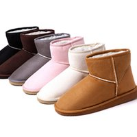 Wholesale Ladies Leather Boots Wholesale - Wholesale-2015 Women Winter warm snow boots Lady lamb wool Short Plush shoes berber fleece lovers Faux Suede cotton-padded Thicken shoes