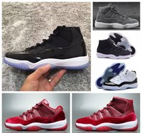 Wholesale Satin Silk Cushions - New Low Velvet Heiress Retro 11s XI Mens Basketball Shoes Wool Athletic Space Jam Sports Hot 11 Suede Closing Ceremony Sneakers 36-47