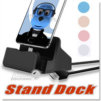 Wholesale Station For Mobile - Micro USB Charging Dock Station Cradle Docking Stand Charger for iphone 5 5s 6 6s 7 Plus Android Type C Mobile Phone Tablet with retail pack