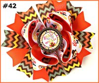 Wholesale Inspire Hair - free shipping 20pcs 5'' 2017 newest character bows school hair bows Patriotic Bow inspired hair clips fashion girl hair accessories