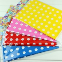 Wholesale Dot Tablecloth - Wholesale-4 color lovely polka dot plastic polka dot tablecloth 1 pc for kids happy birthday party decoration 108*180cm tablecover