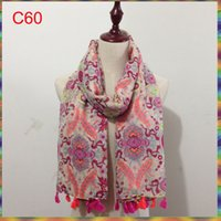 Wholesale Large Print Scarf - Wholesale-90*180cm Large Size Fashion Winter Hot sale Flower Print Women long Cotton Viscose Scarfs Brand scarf women