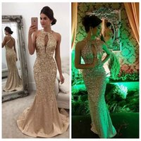 Sexy Glitter Luxury Mermaid Prom Платья Rhinestone Bling Bling Slim Custom Criss Cross Back Официальные платья Vestidos De Festa для особых случаев