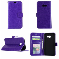 Wholesale crazy horses - For Huawei Mate 9,Galaxy S9 (A3,A5,J3) 2017 A8 J4 J6 Plus 2018 Crazy Horse Wallet Leather Holder Luxury Pouch Flip Cover+TPU Photo Card Case