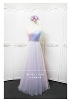 Wholesale Wholesale Lace Bridesmaid Dresses - New 2017 Colorful A-Line Tulle Long Bridesmaid Dresses Under 50 Sweetheart Neck Lace-up Back Cheap Formal Dresses Wedding Guest Dress