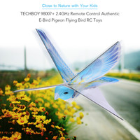 Wholesale Rc Plane Ready Fly - Wholesale- Flying RC Bird in RC Air planes 98007+ 2.4GHz Remote Control E-Bird Flying Birds Electronic Mini RC Drone Toys Helicopter