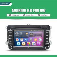 Wholesale Dvd Bora - Quad Core Android 6.0 Car DVD GPS Navigation For Volkswagen VW PASSAT TIGUAN GOLF Polo Jetta MAGOTAN BORA CADDY TOURAN EW842P6QH