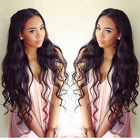 Wholesale brazillian hair lace wigs - 9A Best Lace Front Human Hair Wigs Glueless Full Lace Wigs 100% Brazillian Virgin Human Hair Body Wave Wavy Wigs For Black Women