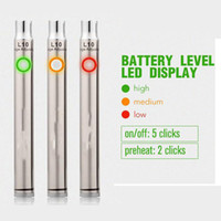 Wholesale smoking electronic resale online - preheat electronic cigarette battery L10 smoking variable voltage thick oil vaporizer pen battery mah in black and SS VS mix2 battery