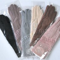 Wholesale Wholesales Accessories For Ladies - Ladies long gloves Anti-slip touch lace gloves Anti-UV fashion accessories 6 kinds of color options for attending party outings