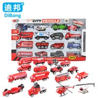 5-7 Years Car Metal Car Model Kit glide ratio model alloy car toy fire engine SUV car Helicopters Formula One racing Truck gift
