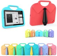 Wholesale Light Shirts China - Multifunction Kids Shirt Tie Safe Soft EVA Light Foam Weight Shock Proof Handle Protective Case With Stand for ipad Mini 1 2 3 4