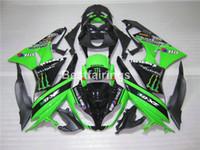 Wholesale Bodywork Zx6r - Motorcycle fairing kit for Kawasaki Ninja ZX6R 09 10 green black bodywork fairings set ZX6R 2009 2010 GT05