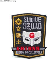 Wholesale dc cosplay online - DC Legion of Collectors Batman Suicide Squad Joker Harley Quinn patch Badge Movie cosplay Embroideried Badge Halloween Costume cool patch