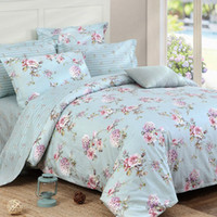 cotton blue bedding collections - Riho Piece Cotton Bedding Rural Floral Rose Elegant Comfortable Bedding Sheets Bedding Collection Blue