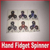 beyblade 4d l drago yok etmek toptan satış-Son Leopar Kamuflaj El Spinner 6 Renkler Amerika Bayrağı Baskı Fidget Spinner HandSpinner Parmak Spiral Parmaklar Gyro