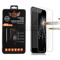 Wholesale Glass Screen For Cell Phone - For iPhone 8 Screen Protector Tempered Glass For iPhone 7 Galaxy S8 Cell Phone Protector 9H Hardness Screen Protector with Retail Package