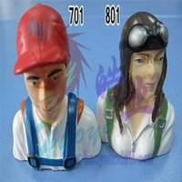 Wholesale Rc Model Airplane Scale - 1 6 Scale Pilot Statues Girl Pilots model L75*W66*H36mm for RC Airplane