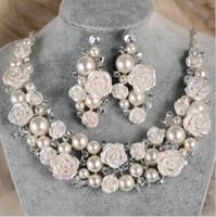 Wholesale Tiara Diamond Wedding Dress - Luxurious Cheap Rhinestone Tiara Headwear Crown Necklace Earring Sets for Wedding Bridal Party Dresses Bridal Jewelry