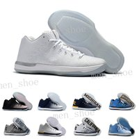 Wholesale Cheap Usa Sport Shoe - New 31s Banned Olympic USA Brazil Rio Blue White Red Men Basketball Shoes Sneakers Cheap Retro XXXI 31 Air Sports Shoes US 7-12