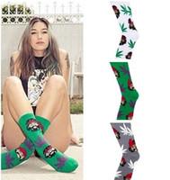 Wholesale Free Comedy - Maple Leaf Socks Unisex Comedy cheech&chong Portrait Socks Long Skateboard Hip-hop Cotton Sock 3 Colors Free Shipping