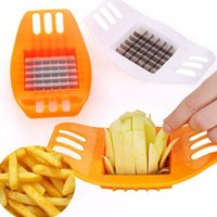 Wholesale potato chips slicer - BERGLANDER Potato Cutter Vegetable Slicer Chopper Chips Making Device Fries ABS+Stainless Steel Kitchen Cooking Tools