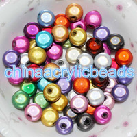Wholesale Purple Chunky Beads - 500Pcs Acrylic Plastic Miracle Round Spacer Beads 3D Illusion Beads 4MM Mirco Tiny Chunky Beads For Jewelry Making